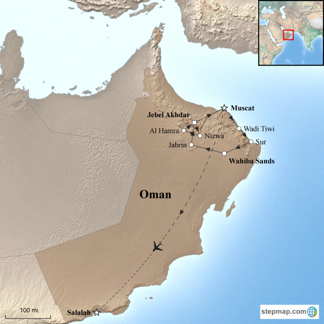stepmap-karte-oman-and-frankincense-coast-15618241