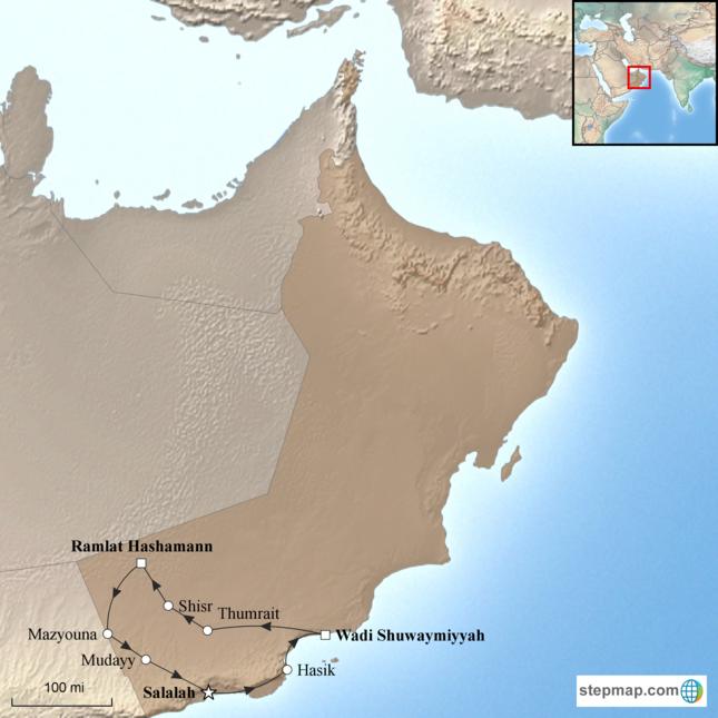 Karte Oman Salalah.Salalah Oman S Empty Quarter