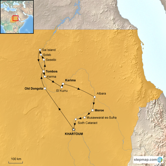 stepmap-karte-sudan-lost-kingdoms-of-the-nile-16420331