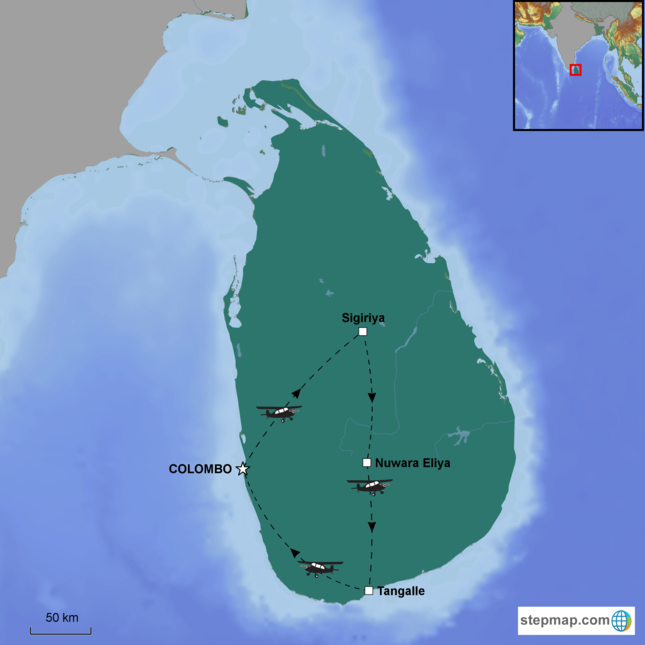 stepmap-karte-ultimate-sri-lanka-by-helicopter-1563184