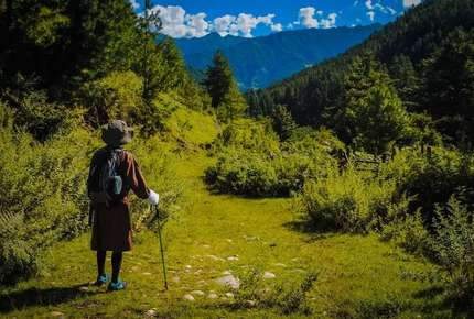 Beautiful scenery on a walking holiday to Bhutan