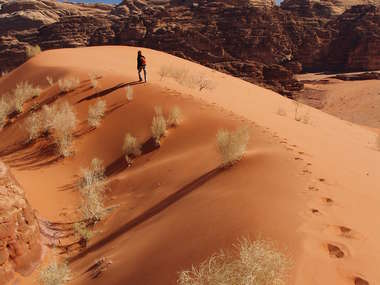 Hike through Jordan's timeless 'biblical' landscapes on this nine day private walking tour.